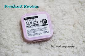 product review maybelline clear smooth all in one cake powder