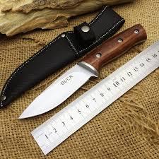 Buck Kitchen Knives Aliexpress Com Buy Buck Hunting Fixed Knife 440 Blade Steel Wood