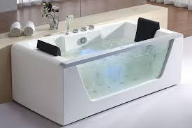 Bathtubs Free Standing Eago Am196 Left Drain Rectangular Corner Whirlpool Bath Tub Free