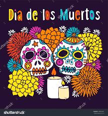 dia de los muertos sugar skulls dia de los muertos colorful sugar skulls clipart