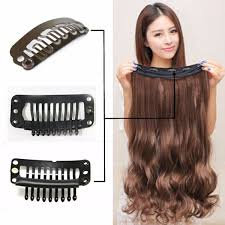 Sticker Hair Extensions by Women Clip In Hair Extensions Long Straight Curly With 5 Clips At