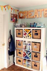 craft cart and a craft room tour the country chic cottage
