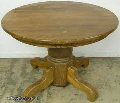 Dining Room Antique Oak Pedestal Table Decor Value Clawfoot Lions - Antique white oval pedestal dining table