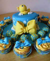 rubber ducky themed baby shower duck baby shower ideas cake in blue baby shower
