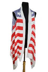 American Flag Cardigan Vintage Wash American Flag Kimono Softness Vest Style