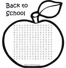 printable word search back to school word search activities for kids
