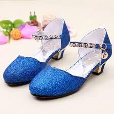 princess wedding shoes 2017 children glitter sandals wedding shoes high heels