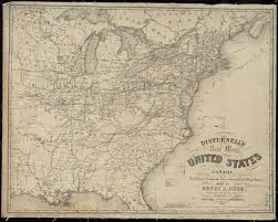 map of the united states showing states and cities file disturnell s new map of the united states and canada showing