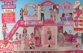 amazon com barbie malibu ave shopping mall 50 pieces playset w
