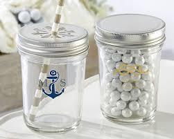 nautical wedding favors personalized nautical wedding printed glass jar set of 12