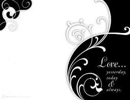 blank wedding invitation rectangle landscape beautiful black white
