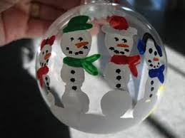 child handprint snowman ornaments looks really with a blue