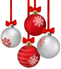 white and hanging ornaments png clipart image