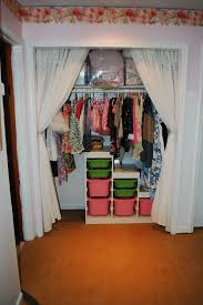 Closet Curtains Instead Of Doors Curtain On Closet Decorate The House With Beautiful Curtains