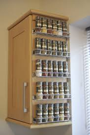 kitchen cabinets wall mounted splendid wire shelves for cabinets with 5 shelf spice rack from