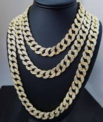 gold cuban necklace images Gold iced out cuban necklace amerikan gold jpg