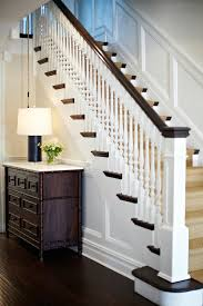 Painting A Banister Black Stairwell Wainscoting Design Ideas