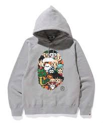 a bathing ape x dragon ball pullover hoodie u2014 white rabbit express