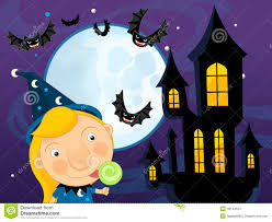 party city halloween scene setters halloween illustration scene moon home night and cat eyes