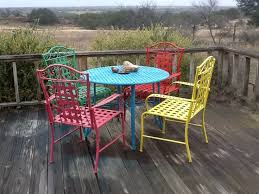 spray painted brightly colored wicker and wrought iron patio furniture makeover garden ideas patio furniture makeover iron