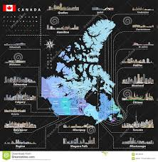 Map Of Canada Provinces Vector Map Of Provinces And Territories Of Canada With Largest