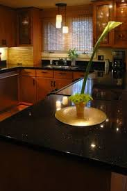 Black Galaxy Granite Countertop Kitchen Traditional With by Mocha Onyx Travertine With Black Galaxy Granite Home Decor