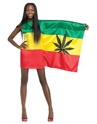 Flag Dress Rasta 420 Weed Flag Womens Bob Marley Holiday Party