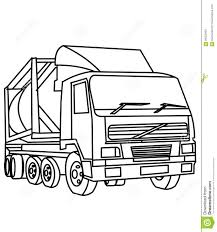 truck coloring page stock illustration image 86352950