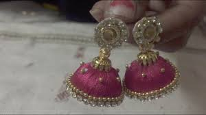 earrings for women silk thread jhumka jhumki earrings for women