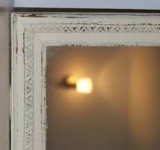 vintage french shabby chic long mirror distressed cream u0026 gold