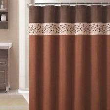 Brown Floral Shower Curtain Victoria Classics Floral Shower Curtains Ebay
