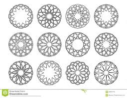 geometric ornaments stock vector image 58629745