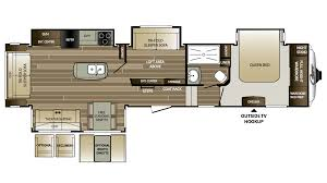 5th Wheel Camper Floor Plans by 2018 Keystone Cougar 359mbi Model