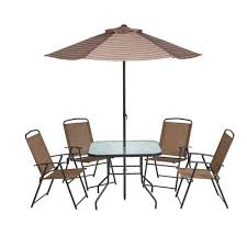 Patio Table And Umbrella Mosaic 6 Folding Patio Set Academy