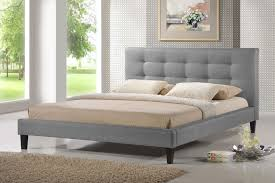 Platform Beds Queen - quincy gray linen platform bed queen size affordable modern