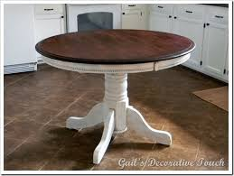 Diy Kitchen Table Top by Best 25 Refinish Table Top Ideas On Pinterest Paint Wood Tables