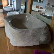 pas japonais en pierre naturelle vasque à poser rectangulaire en pierre naturelle