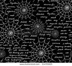 Decorative Spiders Decorative Vector Seamless Pattern Spiders Web Stock Vector