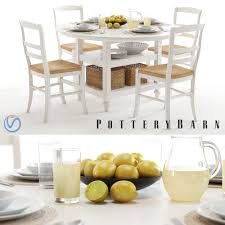 Isabella Rustic White Bedroom Set Pottery Barn Shayne Table U0026 Isabella Chairs White