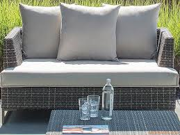 Rattan Two Seater Sofa Luxor Emu Sofa Made Of Metal And Syntethic Rattan 2 Or 3