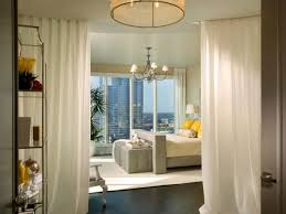 bedroom gorgeous white canopy bed and simple bench near sheer
