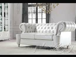 Classic Italian Off White Leather Living Room Sofas  Leather - White leather living room set