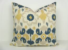 decorating ideas divine navy blue and yellow pillow as