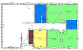 plan 4 chambres plain pied plan de maison 4 chambres plain pied plans maisons