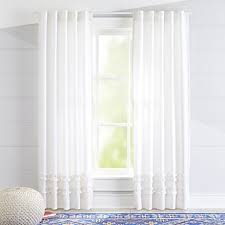 White Ruffle Curtains Curtains Hardware Bedroom Nursery Crate And Barrel