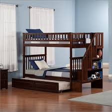Woodland Bunk Bed Atlantic Furniture Woodland Staircase Bunk Bed With Raised