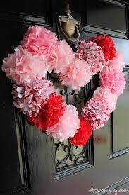 heart wreath tissue paper heart wreath tutorial aspen