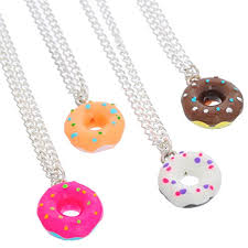 best friends necklace set images Mjartoria best friends forever colorful doughnut jpg