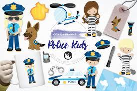police kids graphics and illustrations design bundles