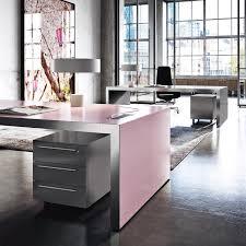 Pink Office Furniture by Vogue Executive Pink Desk Pastel Pink Office Desks Sinetica